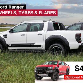 tickford ranger wheels tryes flares